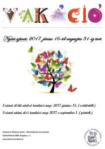 VAKÁCIÓ 2017