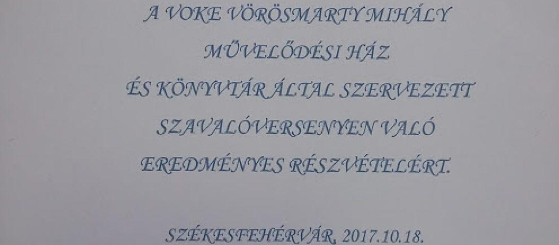 Kollár Gréta versmondó